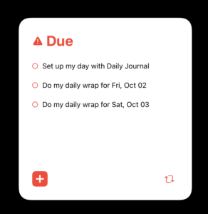 Due Widget for OmniFocus